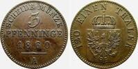 Brandenburg-Preußen Cu 3 Pfennig Friedrich Wilhelm IV. 1840-1861.