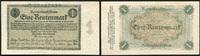 Die Deutschen Banknoten ab 1871 1 Rentenmark Deutsche Rentenbank 1923-1937.