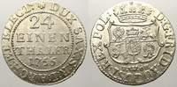 Sachsen-Albertinische Linie 1/24 Taler Friedrich August II. 1733-1763, als August III. König von Polen und Großherzog v