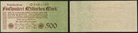 Die Deutschen Banknoten ab 1871 500 Mrd. Mark Reichsbanknote Geldscheine der Inflation 1919-1924.