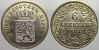 6 Kreuzer 1854 Hessen-Darmstadt Ludwig III...