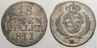 Sachsen-Albertinische Linie 1/48 Taler (Sechser) Friedrich August I. 1806-1827.