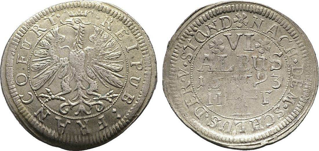6 Albus 1693, Diverse Sehr schön
