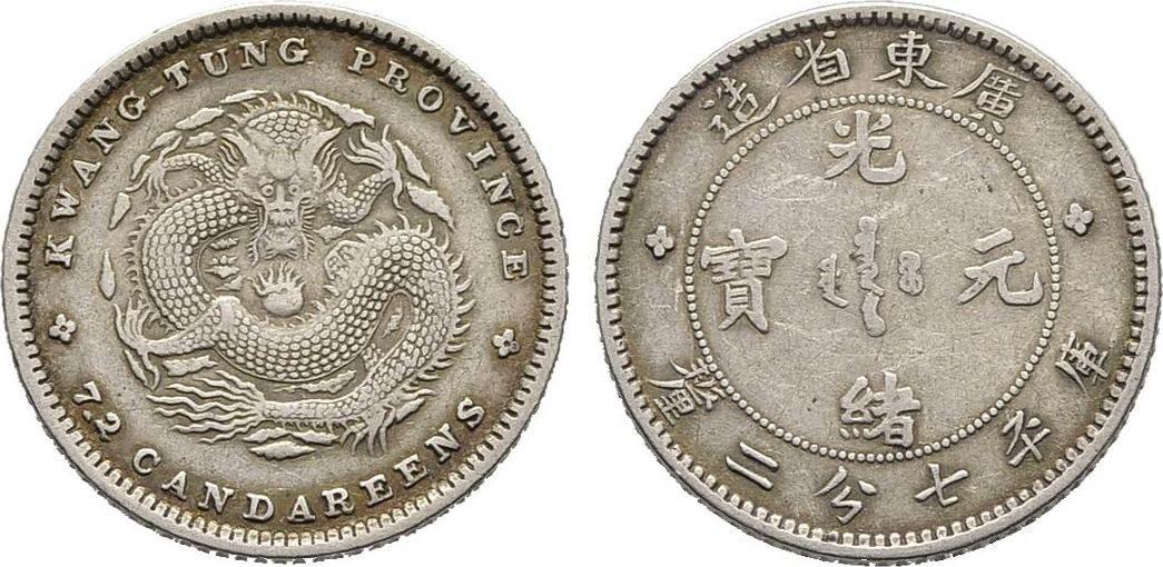 10 Cents o.J. China Sehr schön +