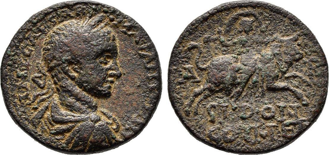 Bronze. Phoenikien Elagabalus, 218-222 Sehr schön