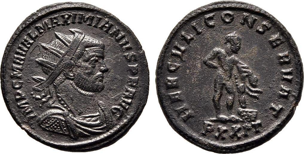 Antoninian 286/288, Kaiserliche Prägungen Maximianus I. Herculius, 1. Regierung 286-305. Sehr schön