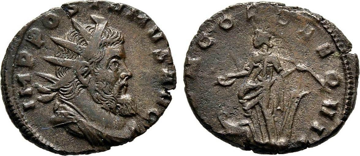 Antoninian 267/268, Kaiserliche Prägungen Aureolus im Namen des Postumus Sehr schön