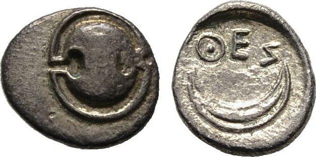Obol 400/350 v. Chr. Boeotien Sehr schön