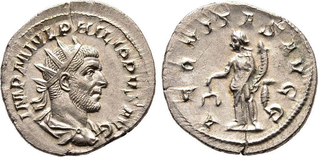 Antoninian 247, Kaiserliche Prägungen Philippus I. Arabs, 244-249. Vorzüglich