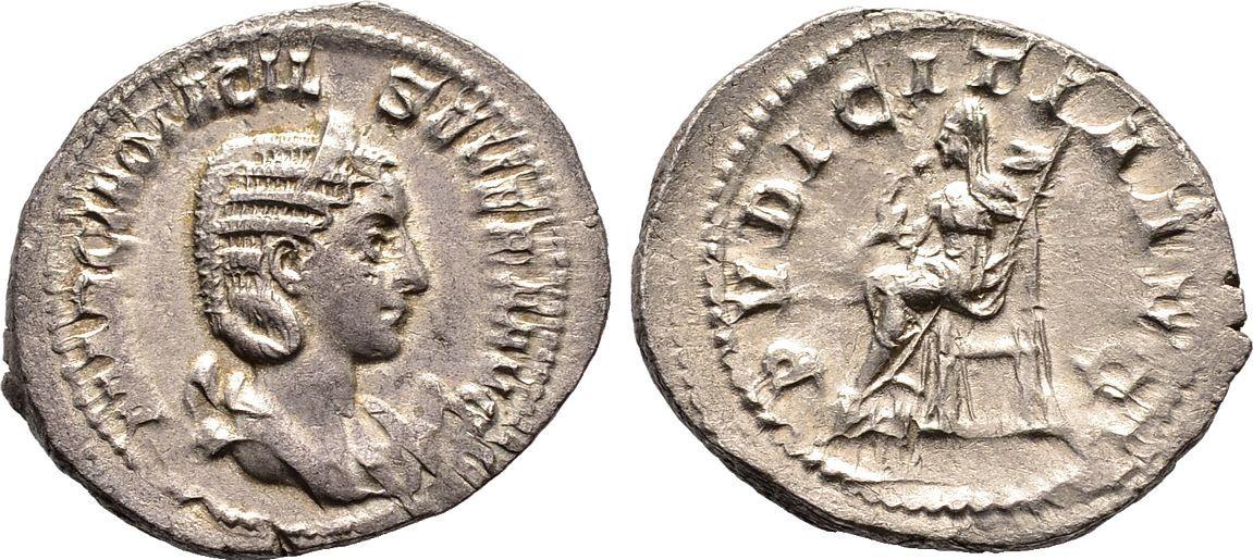 Antoninian 244/246. Kaiserliche Prägungen Philippus I. Arabs für Otacilia Severa. Sehr schön