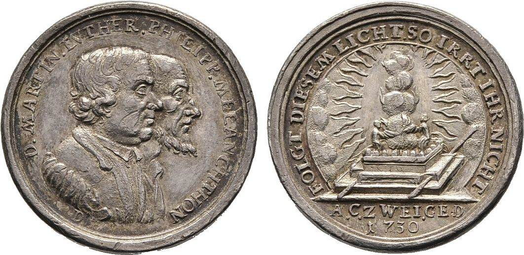 Silberabschlag von den Stempeln des Dukaten 1730, Diverse Sehr schön