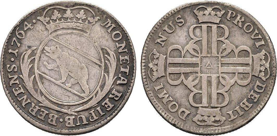 20 Kreuzer 1764. Schweiz Sehr schön