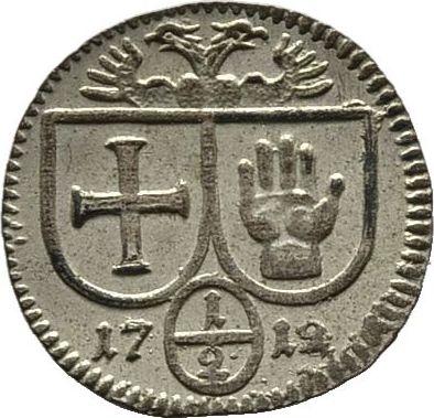 Einseitiger 1/2 Kreuzer 1712. Diverse Vorzüglich