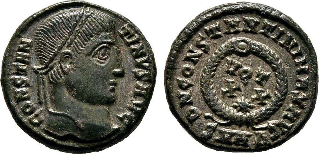 Centennionalis 321/324, Kaiserliche Prägungen Constantinus I., 307-337. Fast vorzüglich