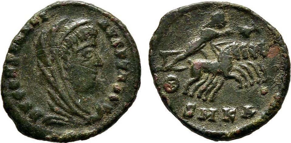 Halbcentennionalis 340, Kaiserliche Prägungen Constans für Divus Constantinus I. Sehr schön