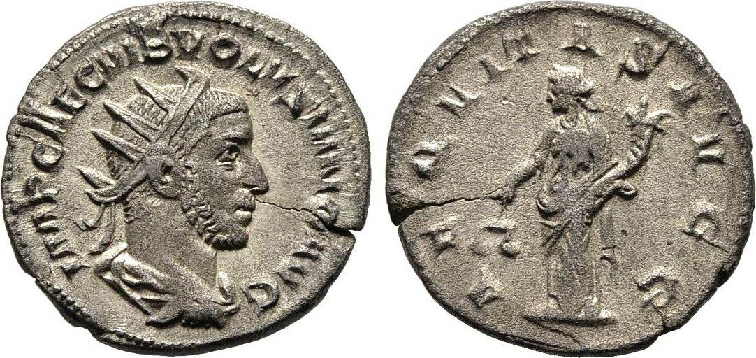 Antoninian, Kaiserliche Prägungen Volusianus, 251-253. Sehr schön