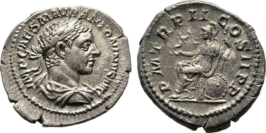 Denar 219 Kaiserliche Prägungen Elagabalus, 218-222. Sehr schön