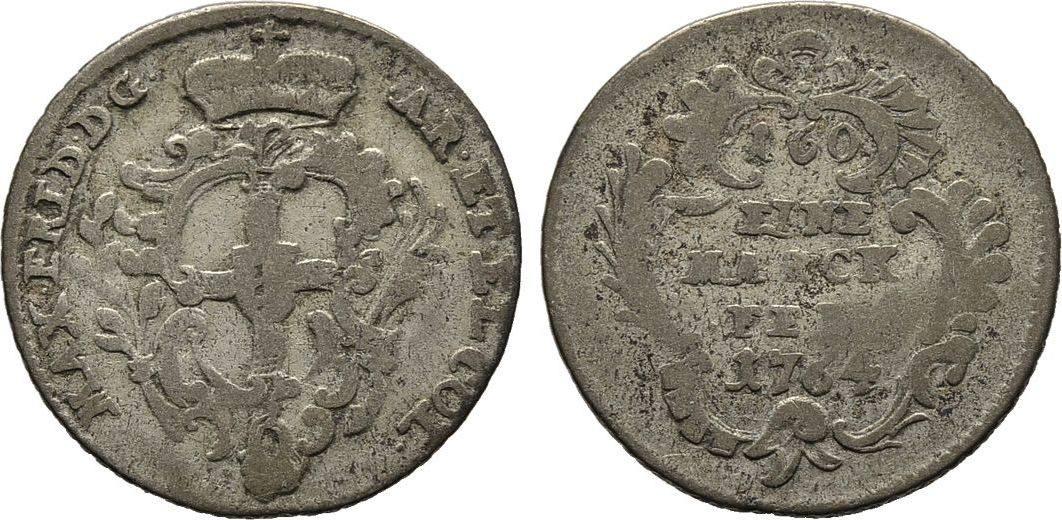 6 Stüber 1764. Diverse Maximilian Friedrich von Königseck, 1761-1784 Schön