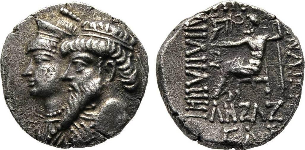 Drachme Jahr 235 (78/77 v. Chr.), Elymais Kamnaskires III. und Anzazes, 1. Jhdt. v. Chr. Vorzüglich / Sehr schön