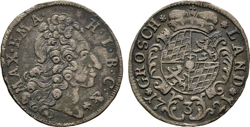 3 Kreuzer 1721. Diverse Maximilian II. Emanuel, 1679-1726 Sehr schön