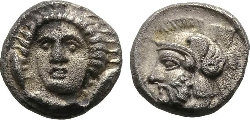 Obol Kilikien Satrap Pharnabazos, 379-374 v. Chr. oder Satrap Datames, 378-372 v. Chr. Fast vorzüglich