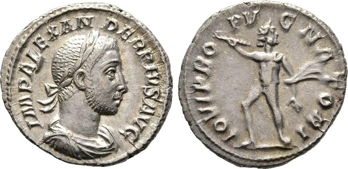 Denar 231/235. Kaiserliche Prägungen Severus Alexander, 222-235. Knapp vorzüglich