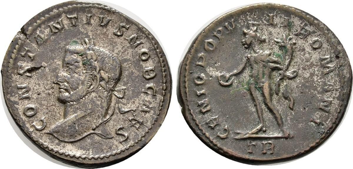 Follis ca. 294 Kaiserliche Prägungen Maximianus I. Herculius für Constantius I. Chlorus. Sehr schön