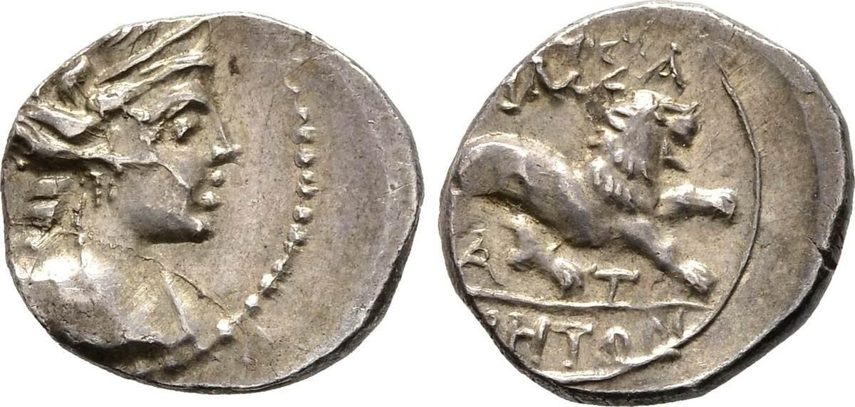 Leichte Drachme (Tetrobol) 130/121 v. Chr. Gallien Vorzüglich