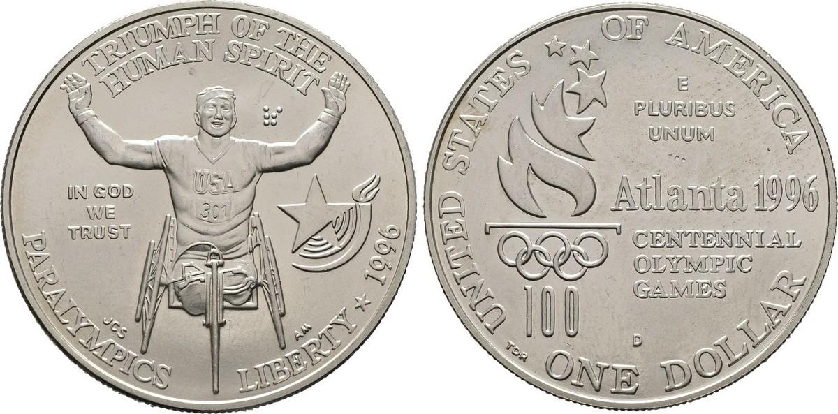 Dollar 1996, USA Fast Stempelglanz
