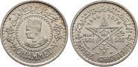 500 Francs AH1376-1956. Marokko Mohammed V., 1346-1375 H/1927-1955 Vorz... 35,00 EUR  + 6,00 EUR frais d'envoi