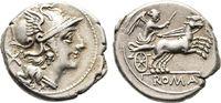 Denar 157/156 v. Chr., Republikanische Prägungen Anonym Sehr schön  125,00 EUR  +  8,00 EUR 运费