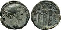 Kaiserliche Prägungen As Antoninus Pius für Marcus Aurelius.