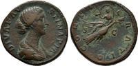 Kaiserliche Prägungen Sesterz Marcus Aurelius für Diva Faustina II.