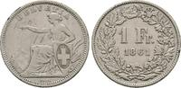 Franken 1861 B, Schweiz  Sehr schön  80.23 US$  zzgl. 4.81 US$ Versand