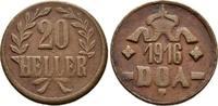 20 Cu-Heller 1916. DEUTSCH-OSTAFRIKA  Sehr schön  40,00 EUR  +  8,00 EUR 运费