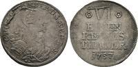 1/6 Reichstaler 1757, Diverse Alexander, 1757-1791 Sehr schön  75,00 EUR  +  8,00 EUR 运费