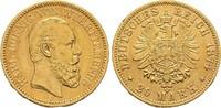 20 Mark GOLD 1874. WÜRTTEMBERG, KÖNIGREICH Karl, 1864-1891 Sehr schön  374.39 US$  zzgl. 4.81 US$ Versand