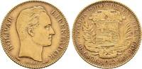 20 Bolivares GOLD 1912. Venezuela Republik Sehr schön  320.91 US$  zzgl. 4.81 US$ Versand