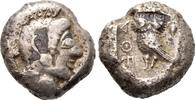 Attika  Tetradrachme 527/510 v. Chr. Fast sehr sch