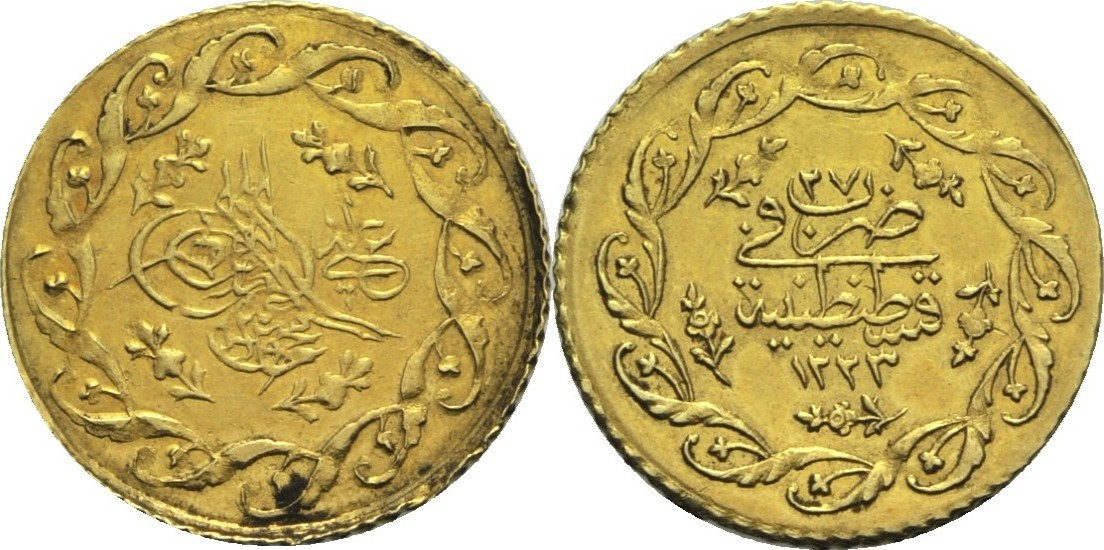 1 Mahmudiye 1835 Ah 122327 Türkei Osmanisches Reich Mahmud Ii