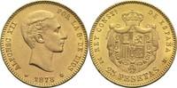 25 Pesetas 1878 Spanien Alfonso XII. vz  380,00 EUR  plus 14,90 EUR verzending