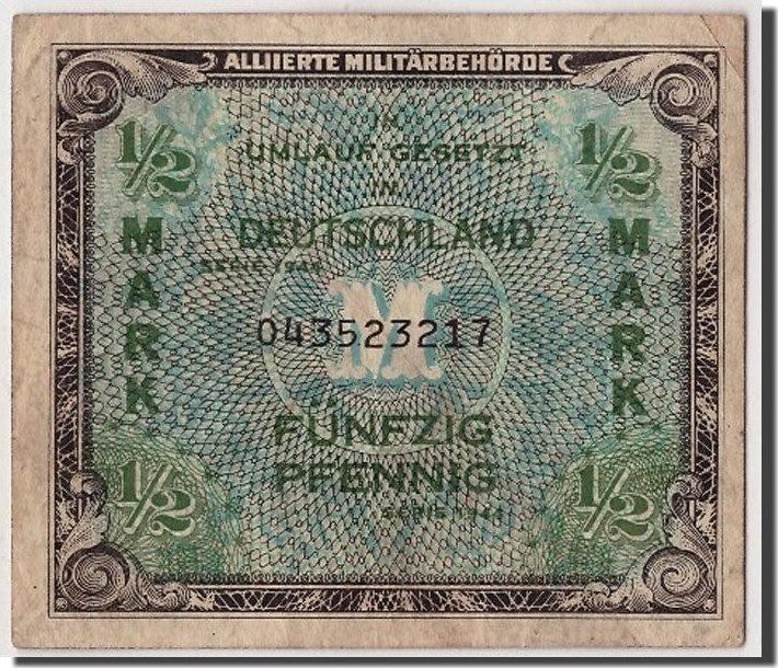 1/2 Mark 1944 Deutschland VF(20-25)