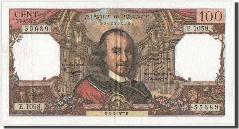 100 Francs 1977 Frankreich AU(50-53)