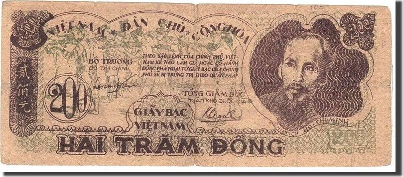 200 Dng 1950 Vietnam Undated, KM:34a, S S