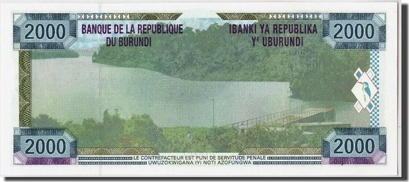 2000 Francs 2001 Burundi UNC(65-70)