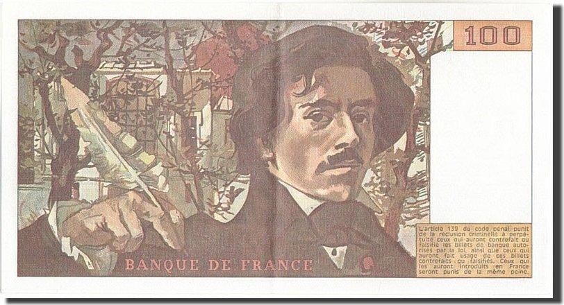 100 Francs 1978 Frankreich 100 F 1978-1995 ''Delacroix'', KM:154a, U... UNZ-