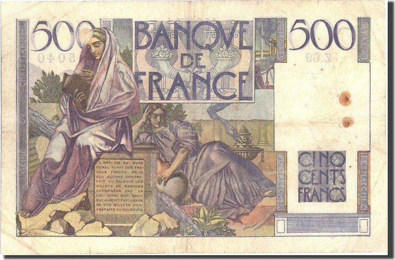 500 Francs 1946 Frankreich 500 F 1945-1953 ''Chateaubriand'', KM:129a, 194... SS+