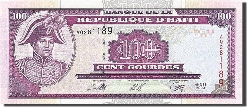 100 Gourdes 2000 Haiti KM:268 UNC(65-70)