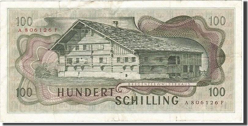100 Schilling 1966-1970 Österreich KM:145a, 1969-01-02, S+ S+
