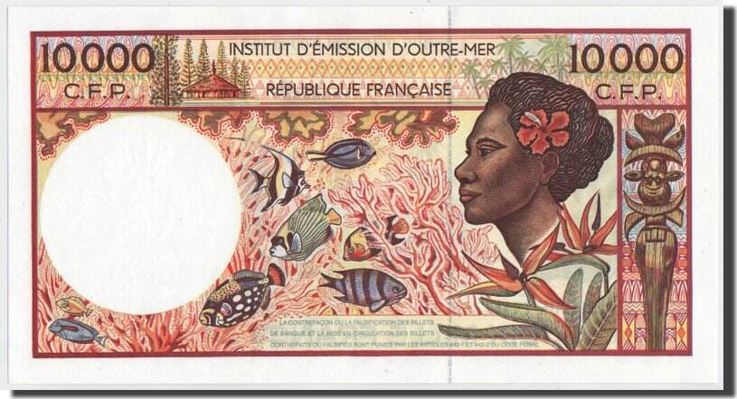 10,000 Francs 1995 French Pacific Territories UNC(65-70)